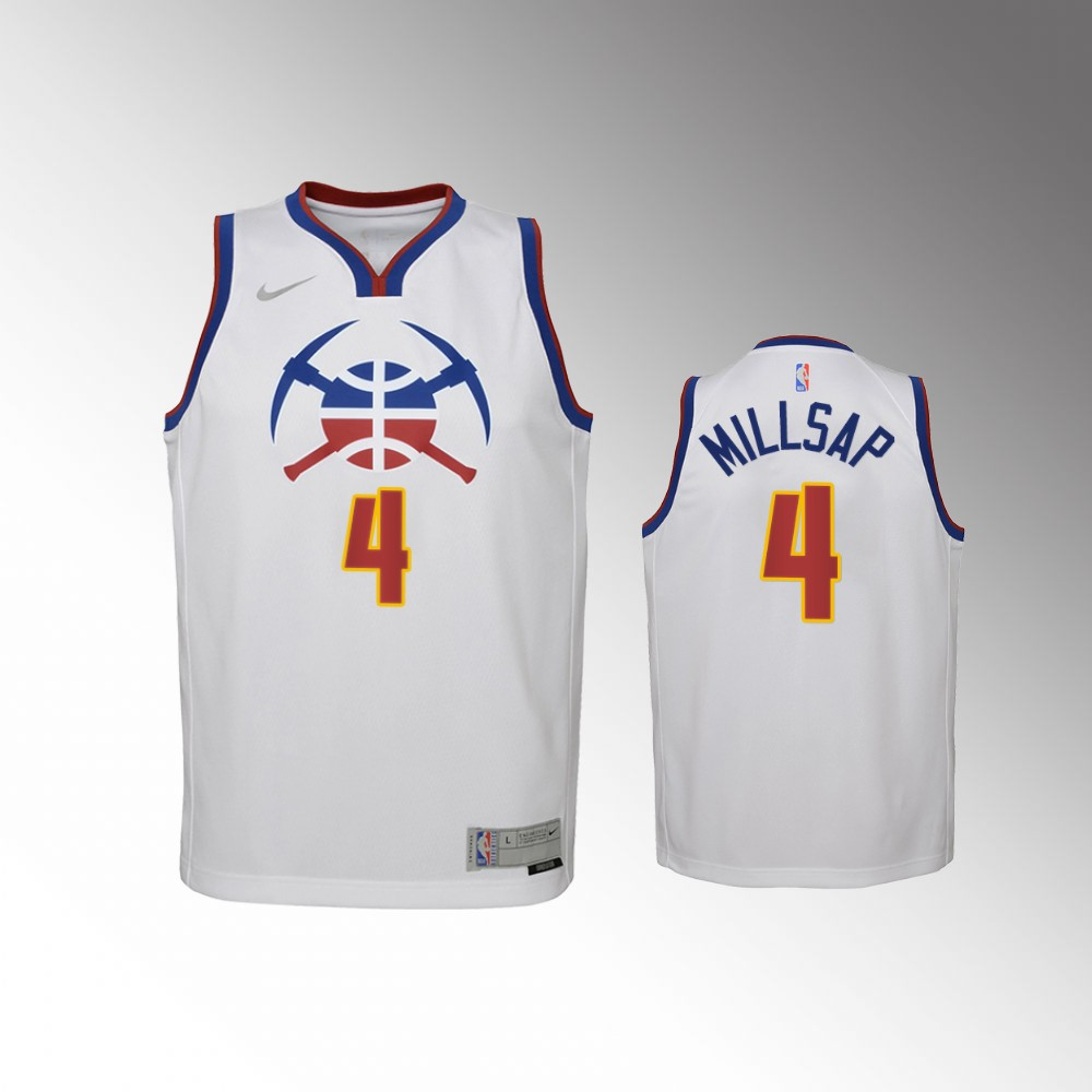 Paul Millsap Denver Nuggets White Earned Edition Jersey