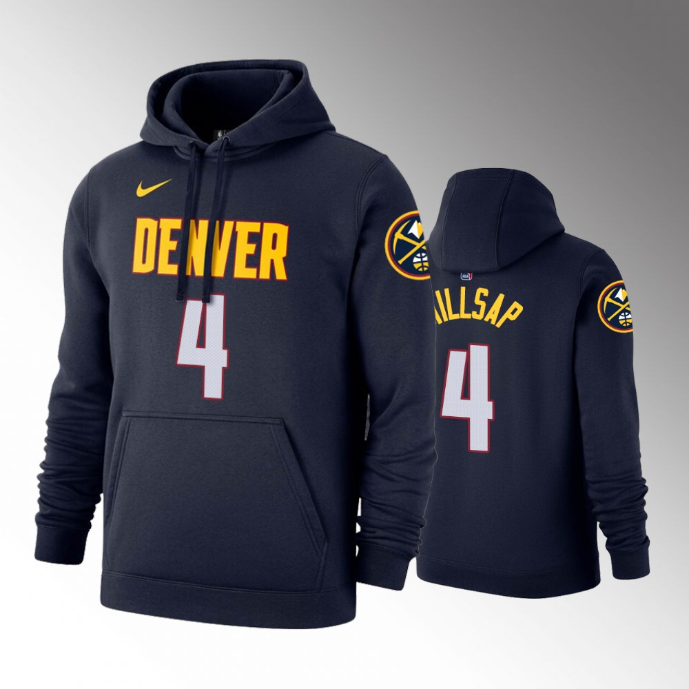 2019-20 Denver Nuggets Paul Millsap Icon Navy Pullover Hoodie