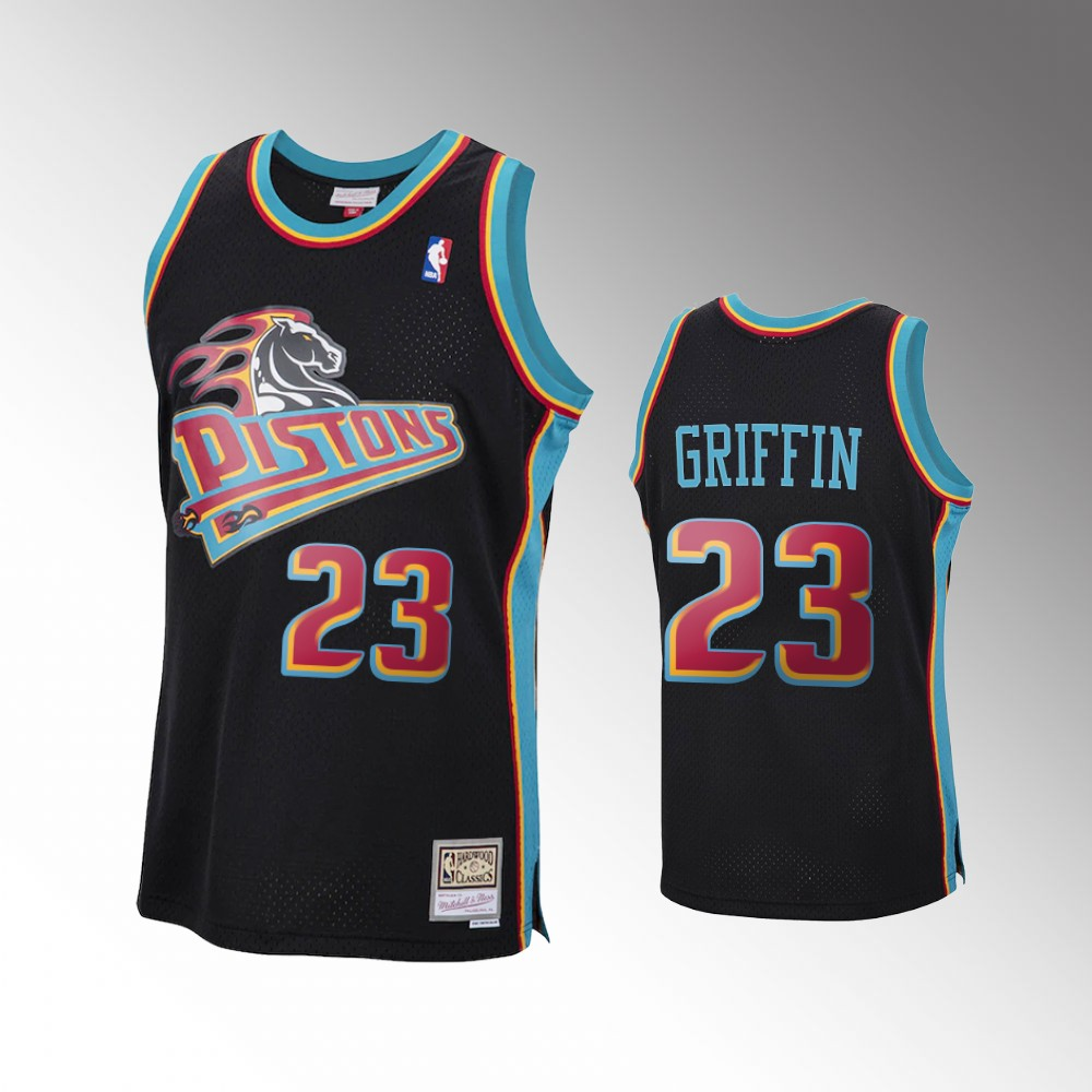 Blake Griffin Detroit Pistons Black 2020 Reload Classic Jersey