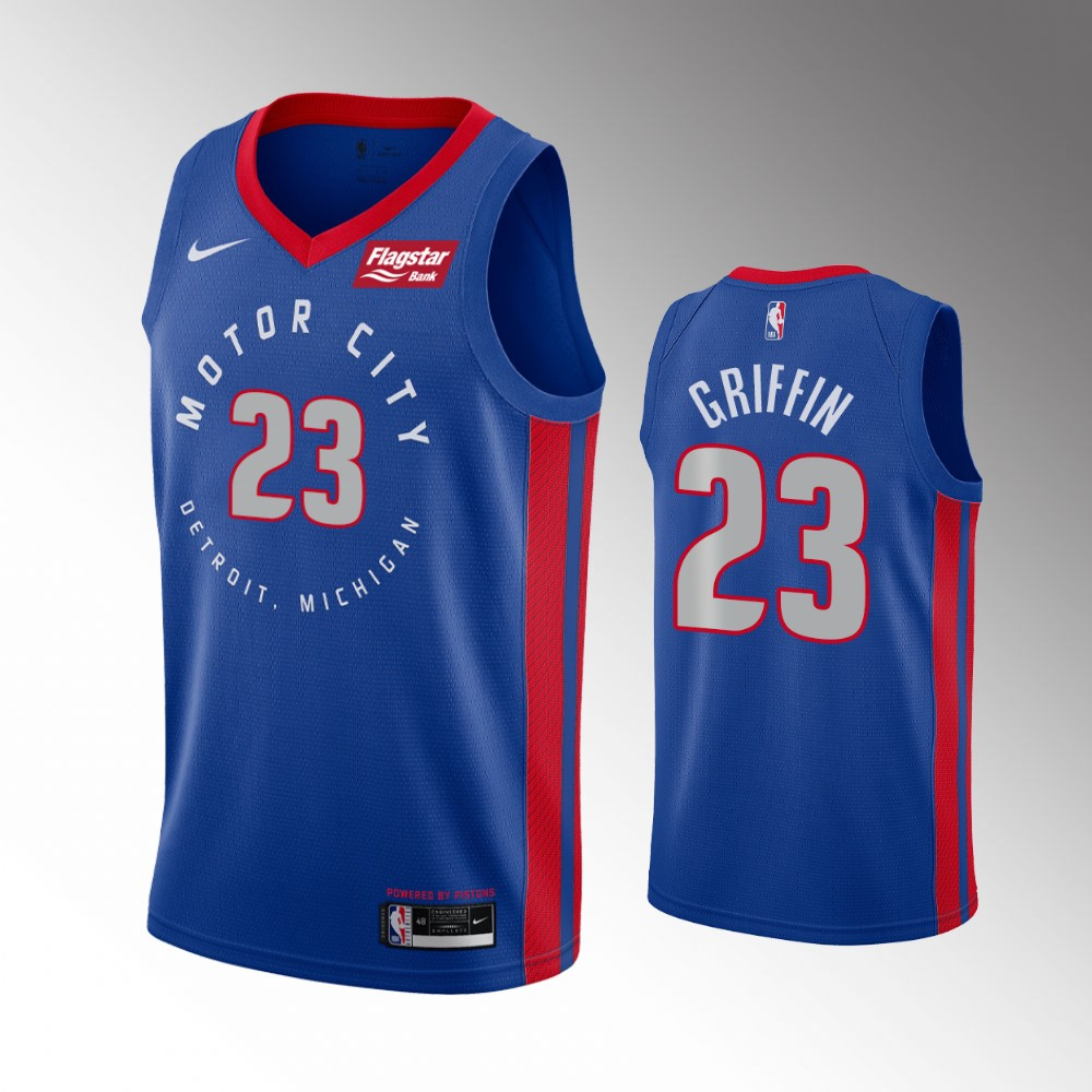 Blake Griffin Detroit Pistons Blue City Edition Jersey