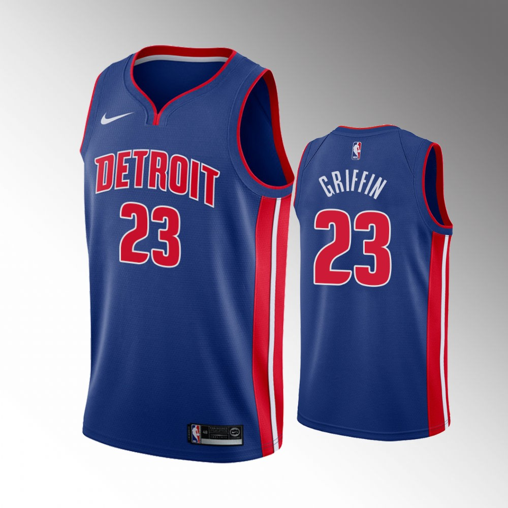 Blake Griffin Detroit Pistons Blue Icon Edition Jersey