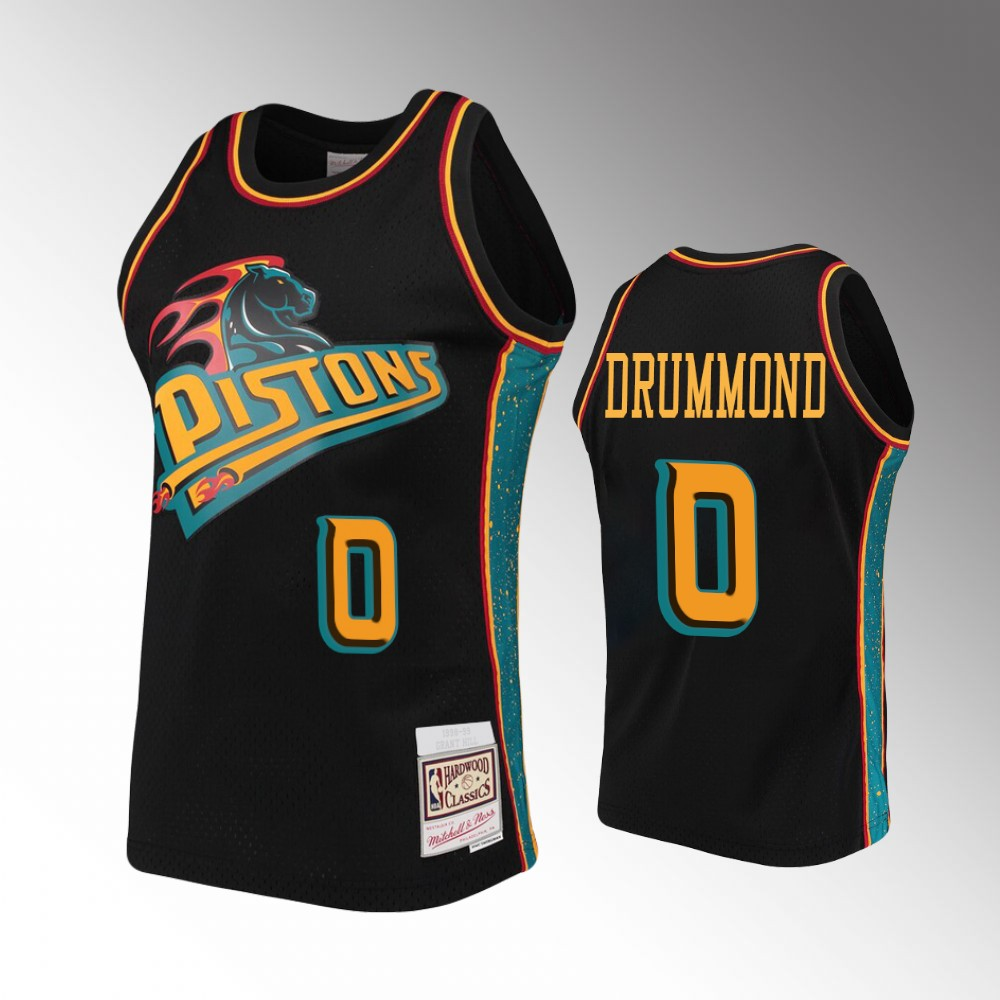 Detroit Pistons Andre Drummond Rings Collection Jersey - Black