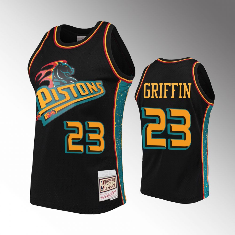Detroit Pistons Blake Griffin Rings Collection Jersey - Black