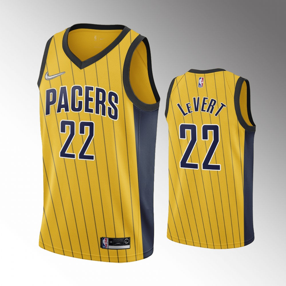 Caris LeVert Indiana Pacers Gold Earned Edition Jersey