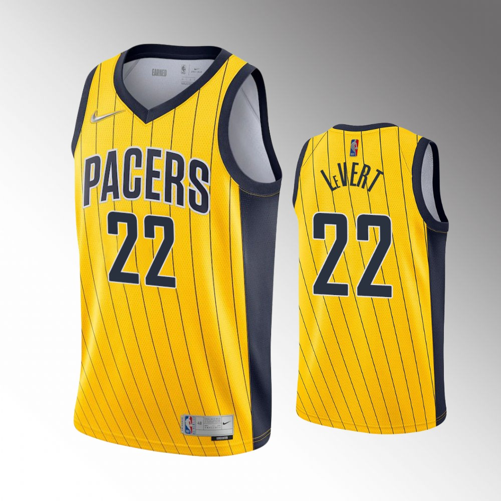 Caris LeVert Indiana Pacers Yellow Earned Jersey