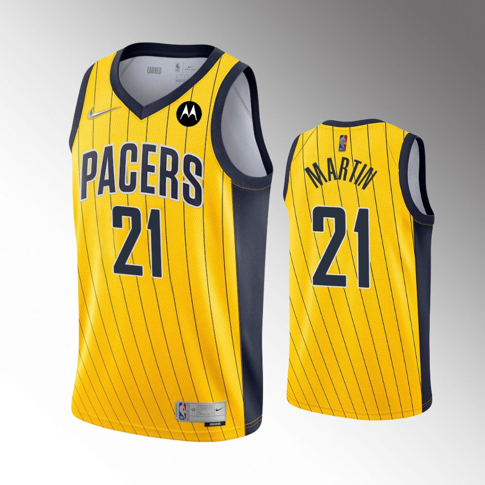 Kelan Martin Indiana Pacers Gold Earned Edition Jersey