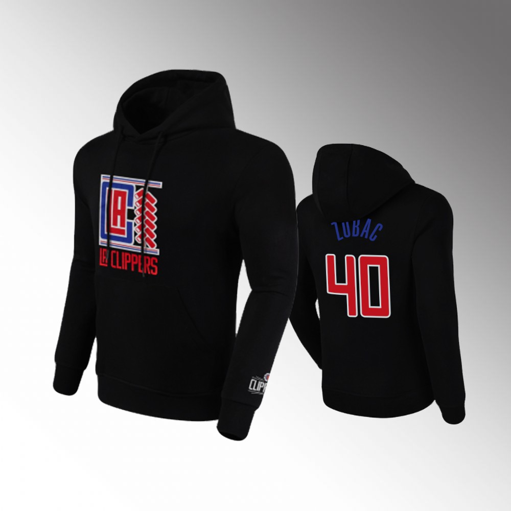 Men's Los Angeles Clippers Ivica Zubac 2020 Chinese New Year Black Pullover Hoodie