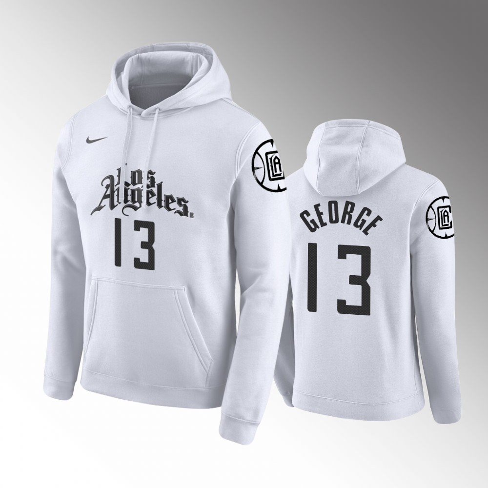 2019-20 Los Angeles Clippers Paul George City White Hoodie