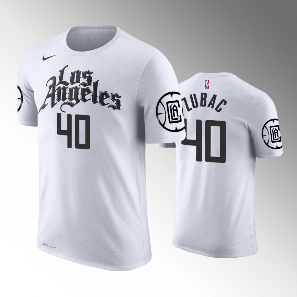 Los Angeles Clippers Ivica Zubac White T-Shirt - City