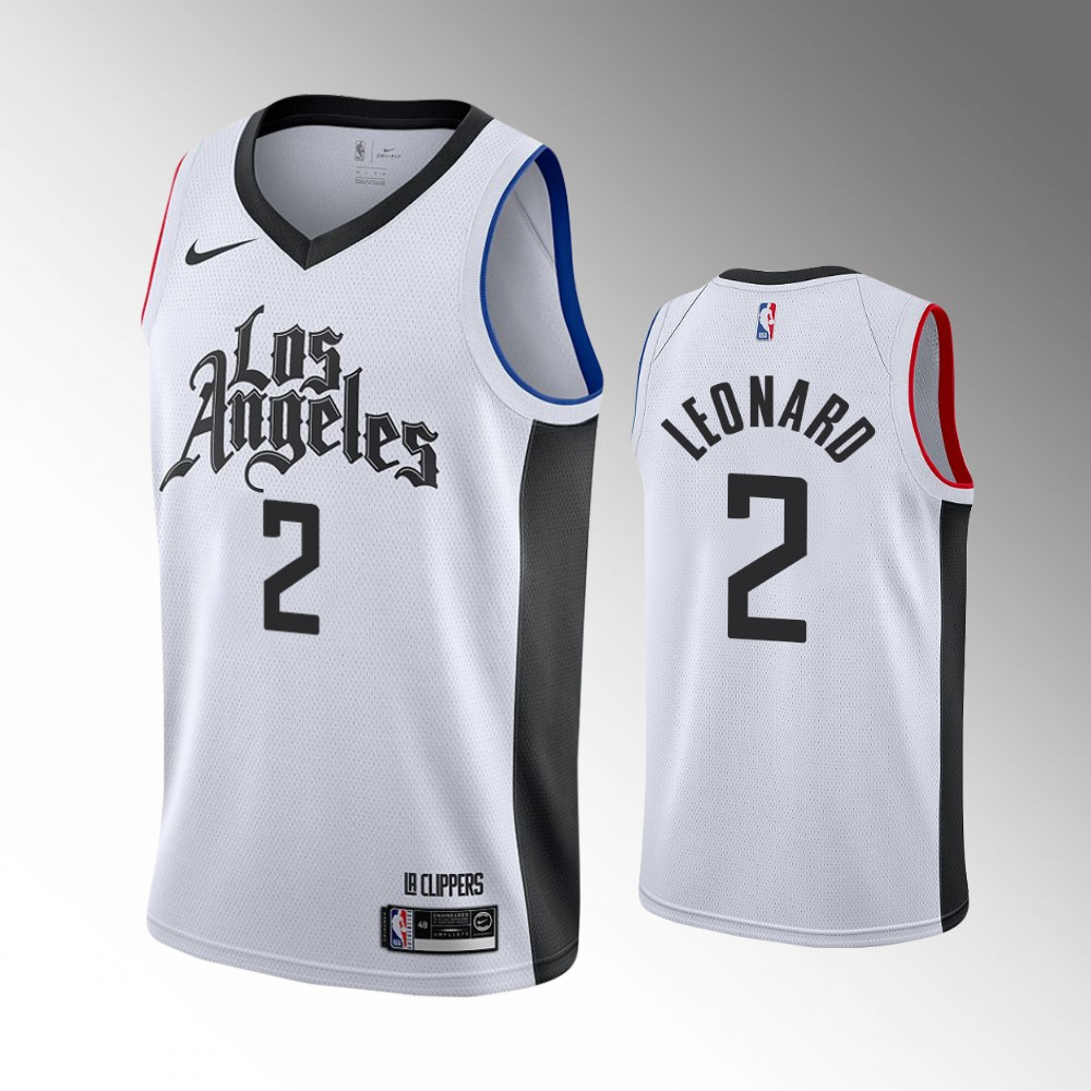 Los Angeles Clippers White Kawhi Leonard Jersey - City