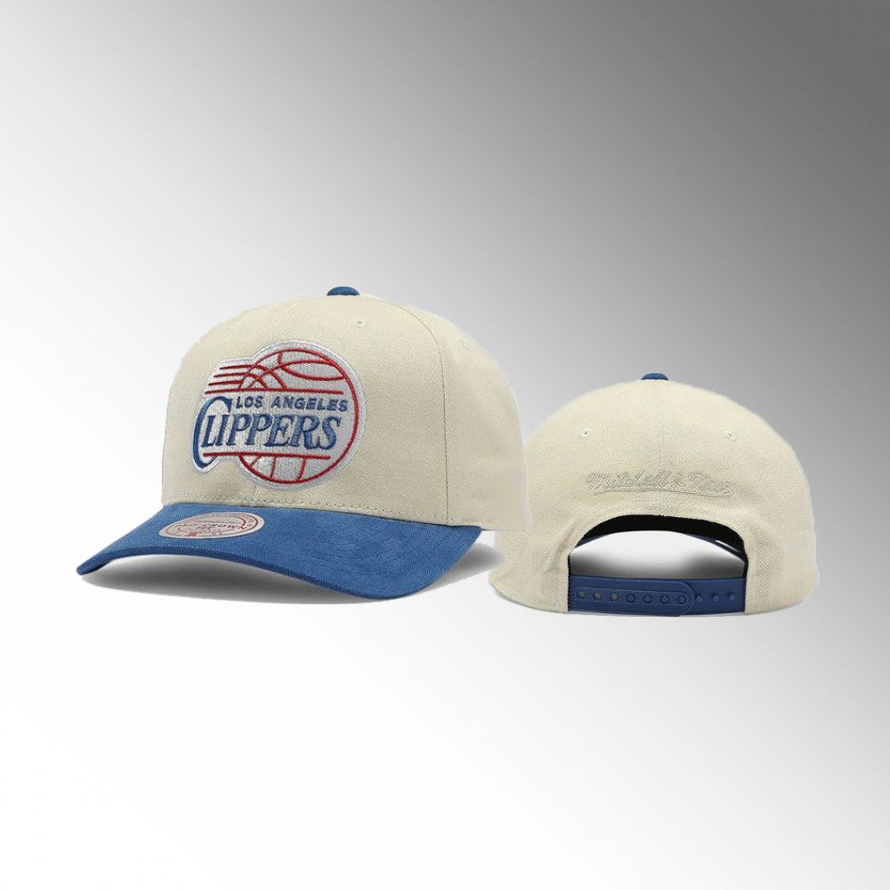 Los Angeles Clippers Cream Go Team Men's Pro Crown Snapback Hat