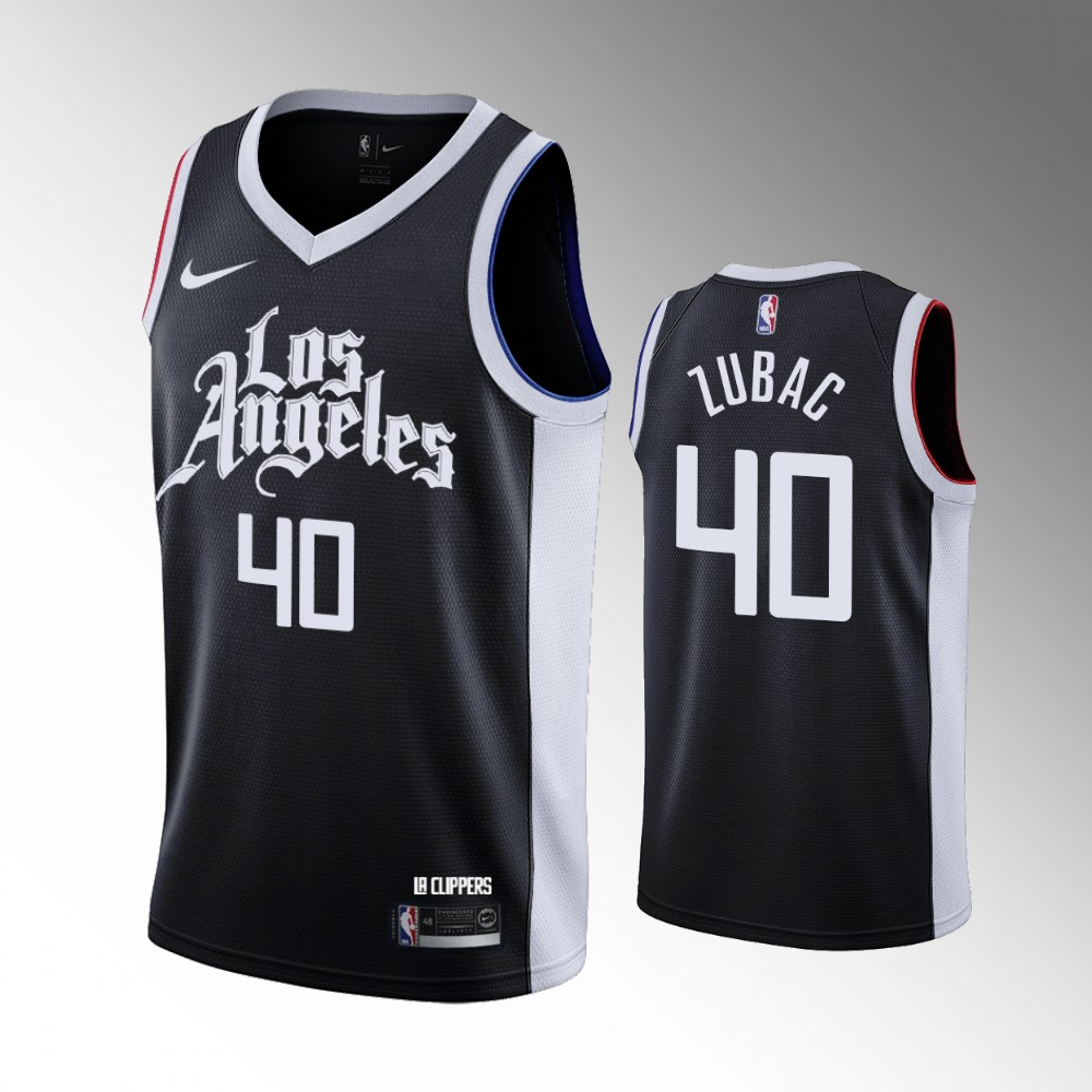 Ivica Zubac Los Angeles Clippers Black City Jersey