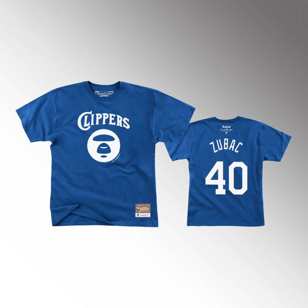 Ivica Zubac Los Angeles Clippers Aape Blue T-Shirt