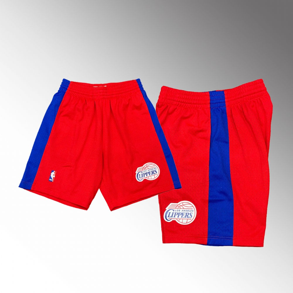 Los Angeles Clippers Red Hardwood Classics Throwback Shorts