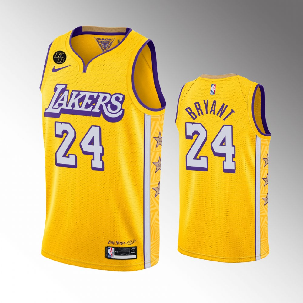 Los Angeles Lakers Yellow Kobe Bryant Limited Jersey - City