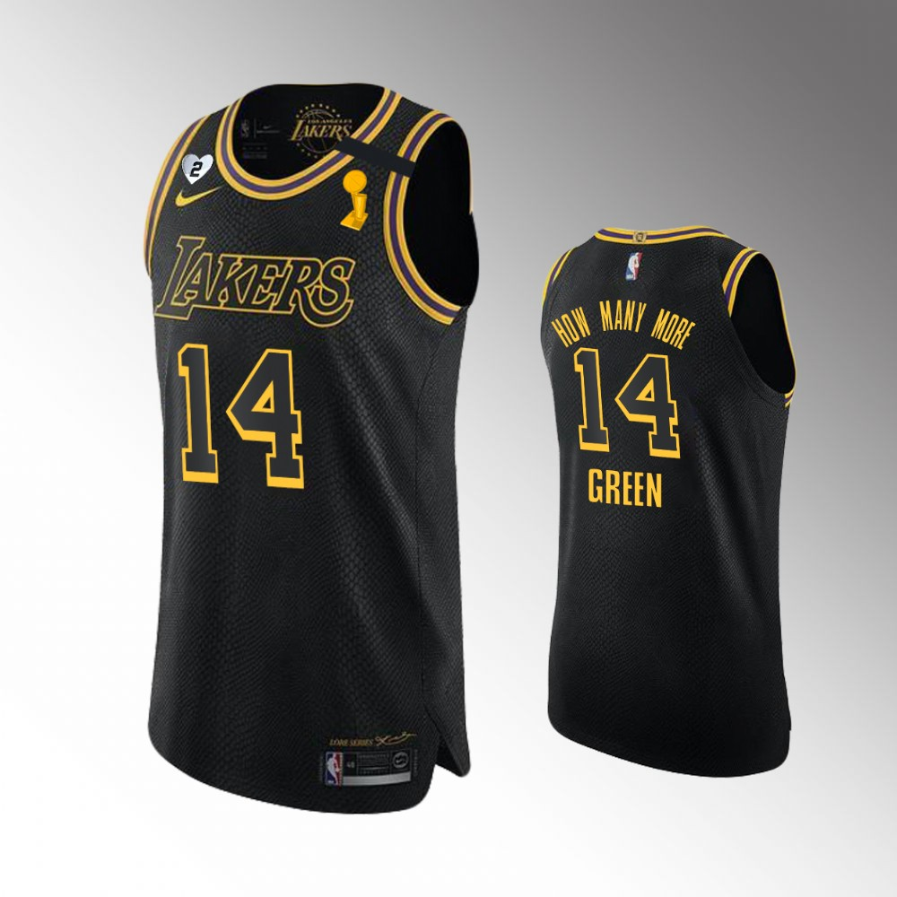 Danny Green Los Angeles Lakers Black 2020 NBA Finals Champions Jersey