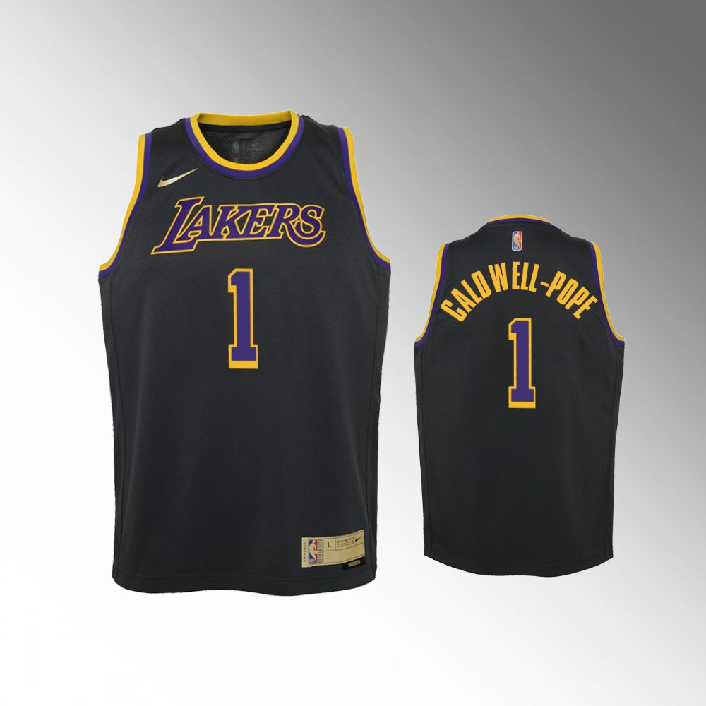 Kentavious Caldwell-Pope Los Angeles Lakers Black Earned Edition Jersey