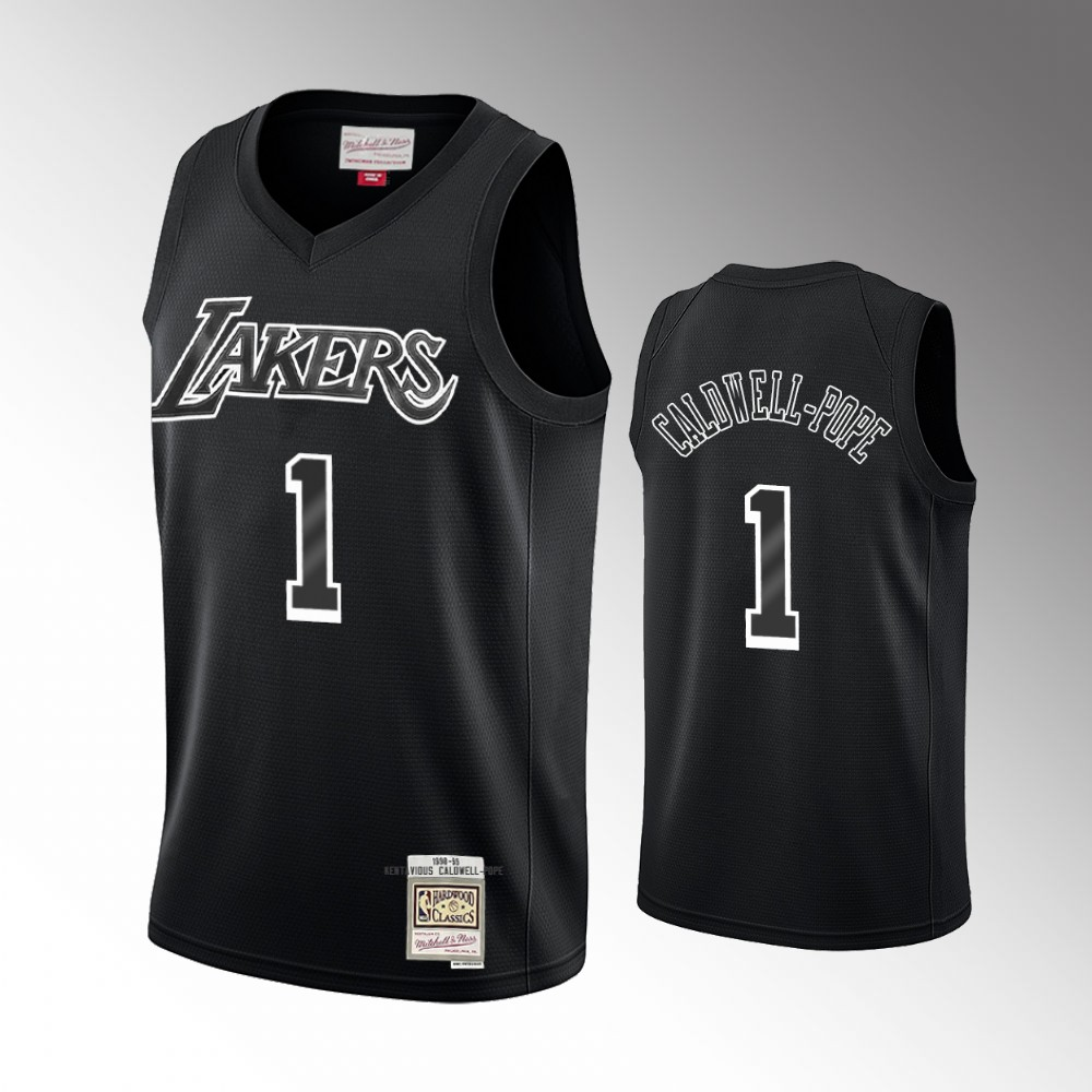 Kentavious Caldwell-Pope Los Angeles Lakers Black Hardwood Classics Jersey