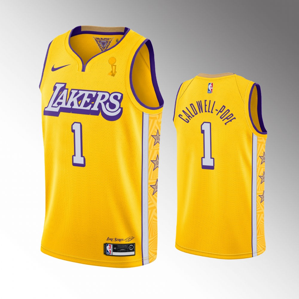 Kentavious Caldwell-Pope Los Angeles Lakers Gold 2020 NBA Finals Champions Jersey