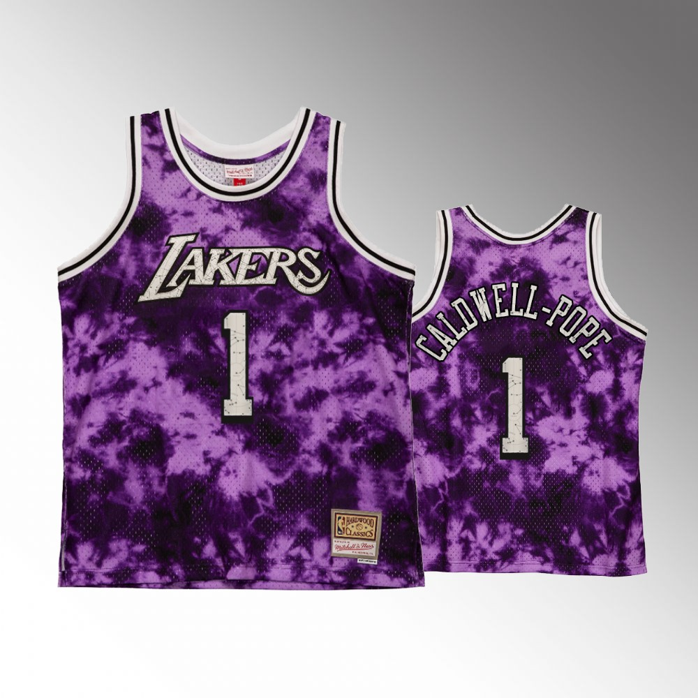 #1 Kentavious Caldwell-Pope Los Angeles Lakers Purple Galaxy Constellation Jersey