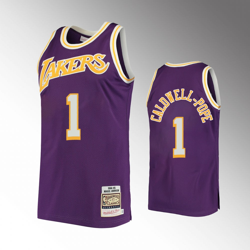 Kentavious Caldwell-Pope Los Angeles Lakers Purple Hardwood Classics Jersey