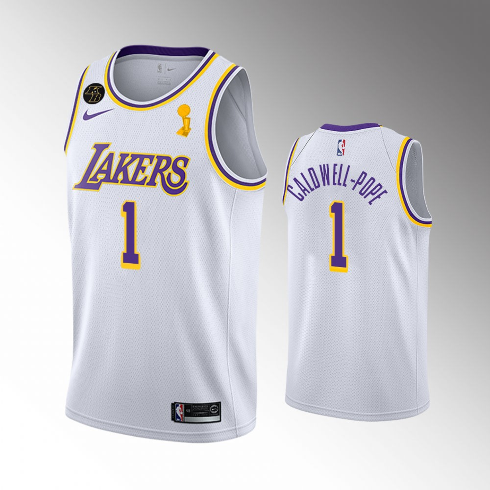 Kentavious Caldwell-Pope Los Angeles Lakers White 2020 NBA Finals Champions Jersey
