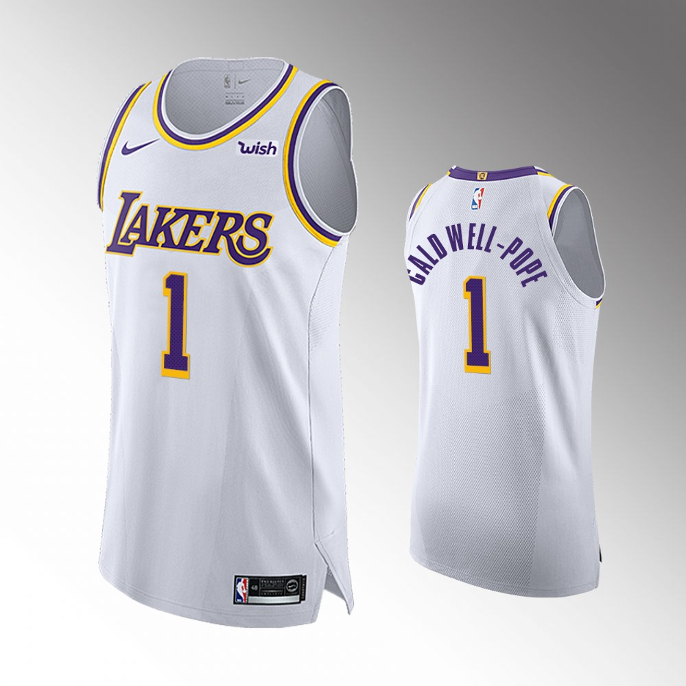Kentavious Caldwell-Pope Los Angeles Lakers White Authentic Association Edition Jersey