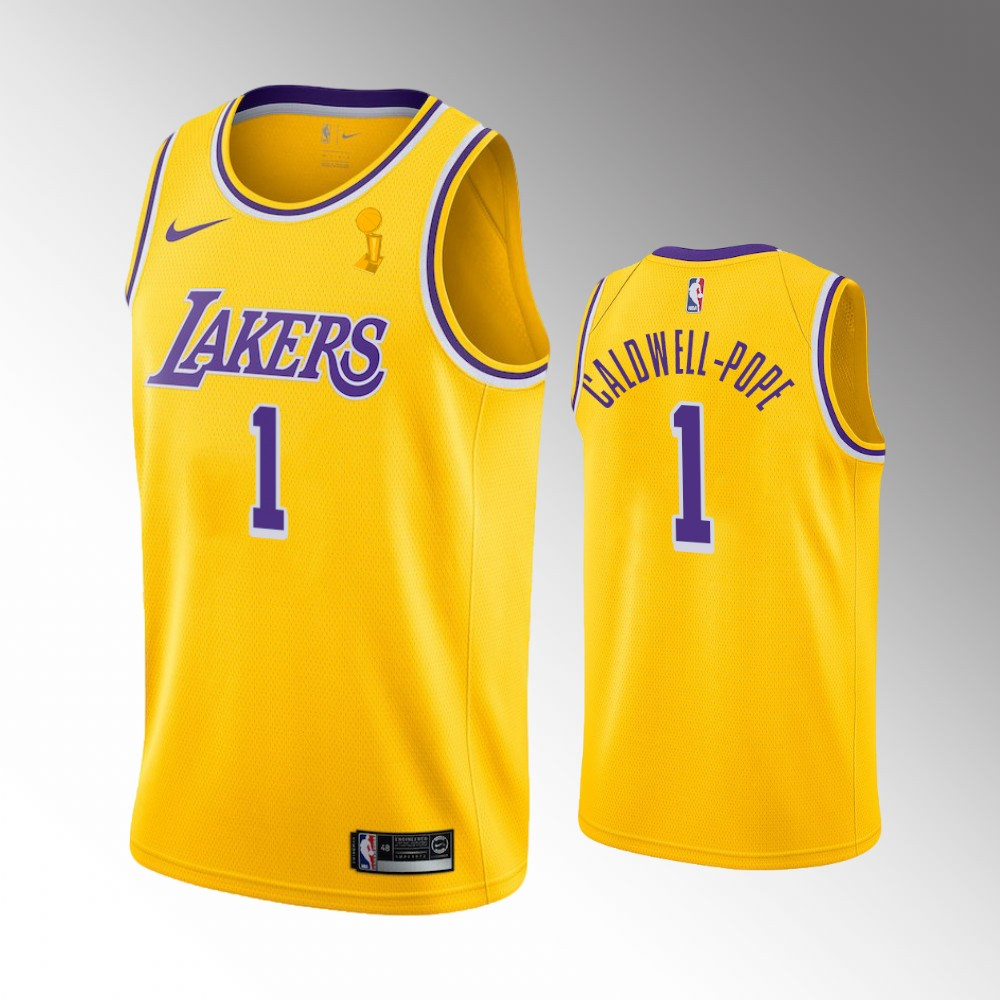 Kentavious Caldwell-Pope Los Angeles Lakers Yellow 2020 NBA Finals Champions Jersey