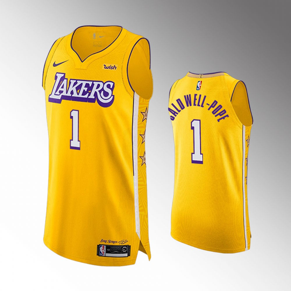 Kentavious Caldwell-Pope Los Angeles Lakers Yellow Authentic City Edition Jersey