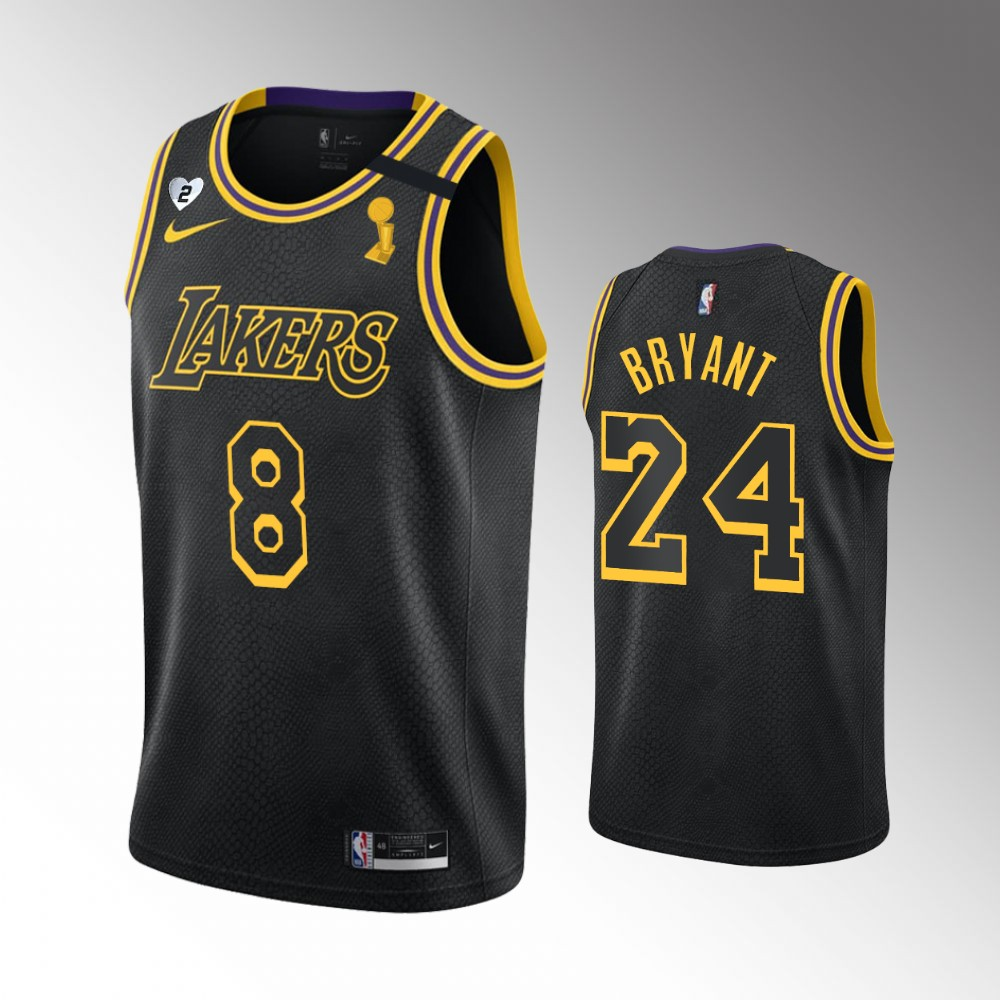 Kobe Bryant Los Angeles Lakers Black 2020 NBA Finals Champions Jersey