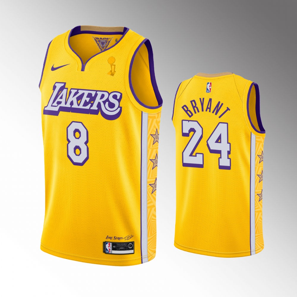 Kobe Bryant Los Angeles Lakers Gold 2020 NBA Finals Champions Jersey