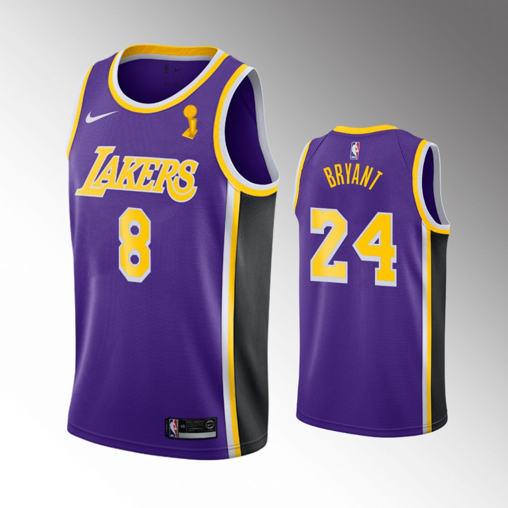 Kobe Bryant Los Angeles Lakers Purple 2020 NBA Finals Champions Jersey