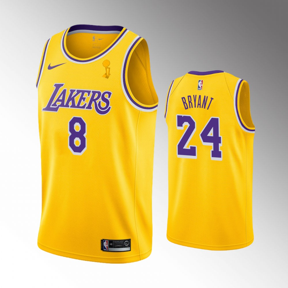 Kobe Bryant Los Angeles Lakers Yellow 2020 NBA Finals Champions Jersey