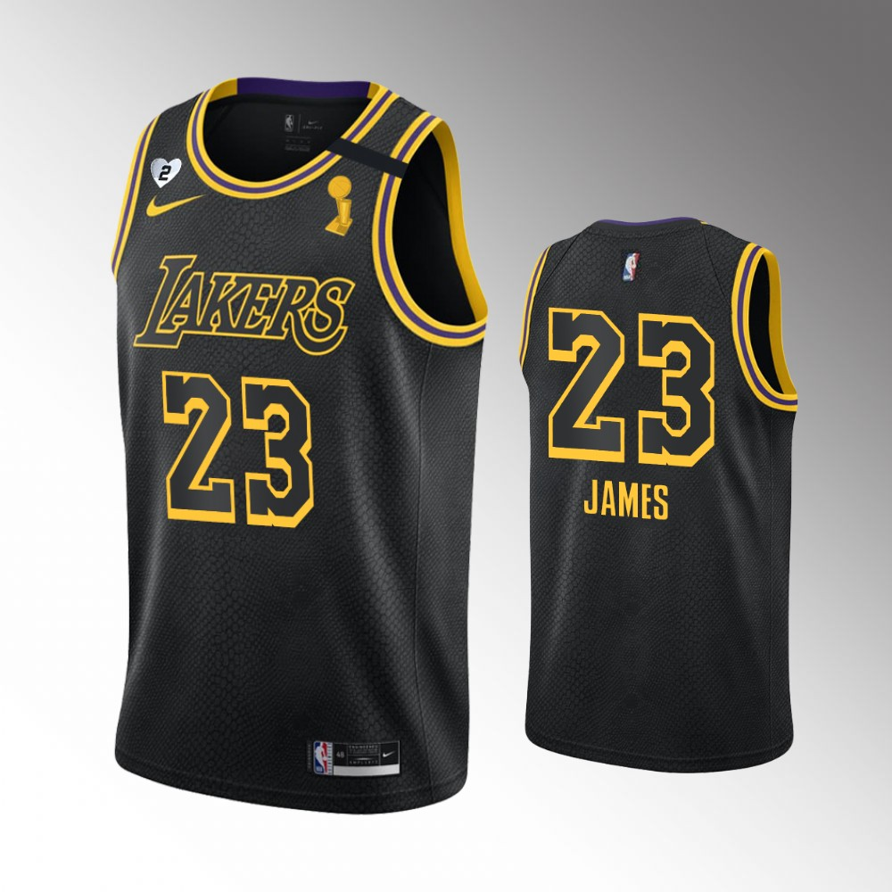 LeBron James Los Angeles Lakers Black 2020 NBA Finals Champions Jersey