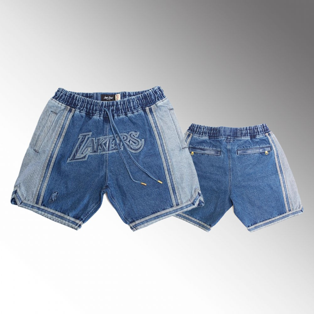 Los Angeles Lakers Blue LeBron James Denim Shorts