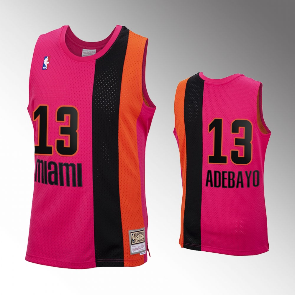 Bam Adebayo Miami Heat Pink 2020 Reload Classic Jersey