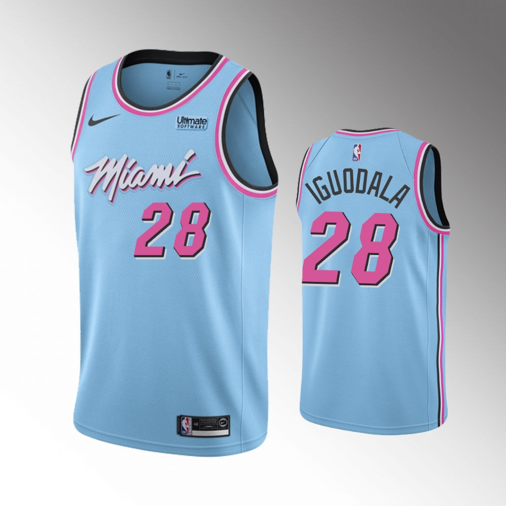 Miami Heat Blue Andre Iguodala Jersey - City