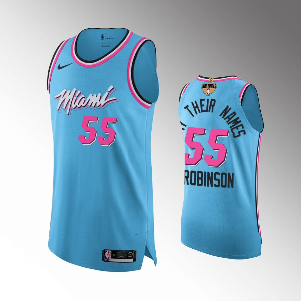 Duncan Robinson Miami Heat Blue 2020 NBA Finals Authentic Jersey