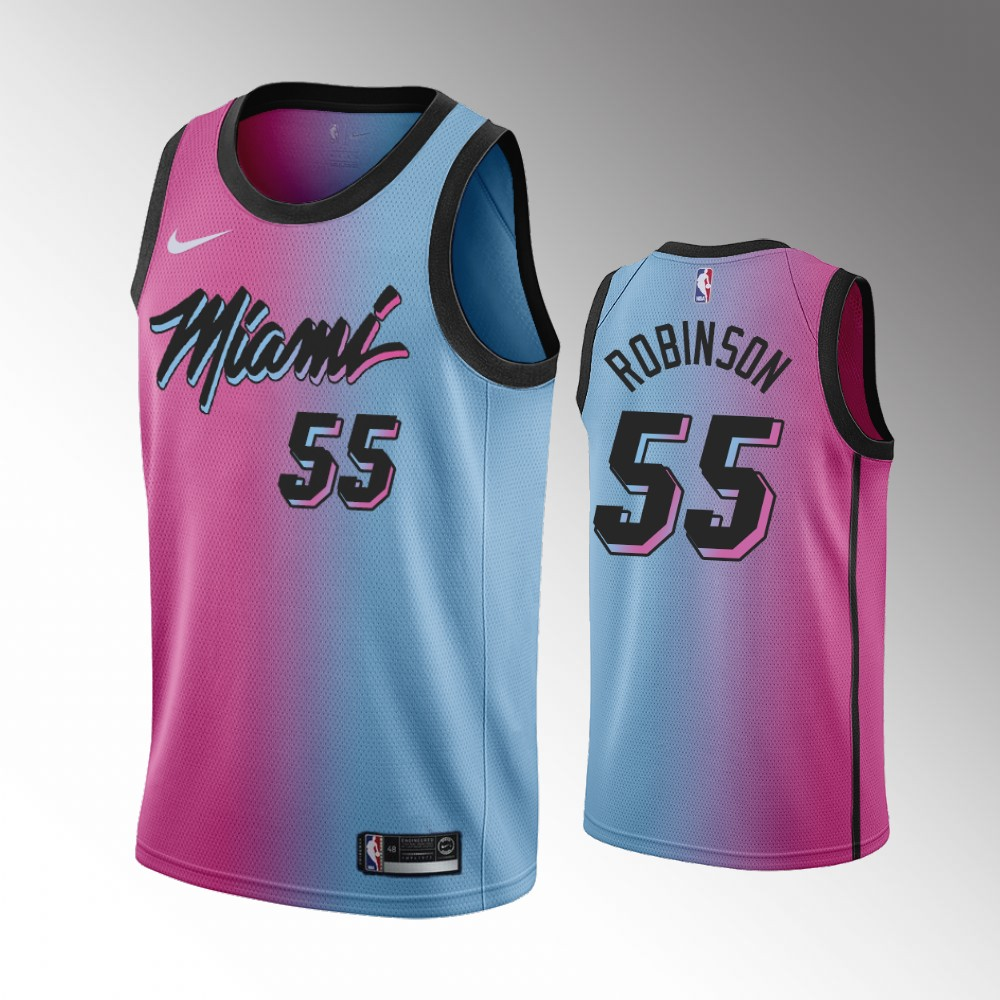 Duncan Robinson Miami Heat Pink Blue City Jersey