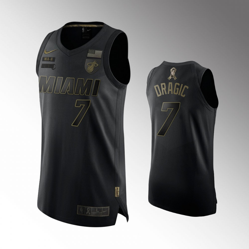 Goran Dragic Miami Heat Black Salute To Service Jersey