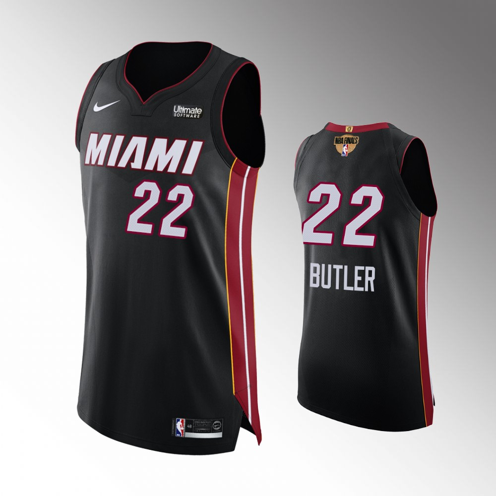 Jimmy Butler Miami Heat Black 2020 NBA Finals G1 Authentic Jersey