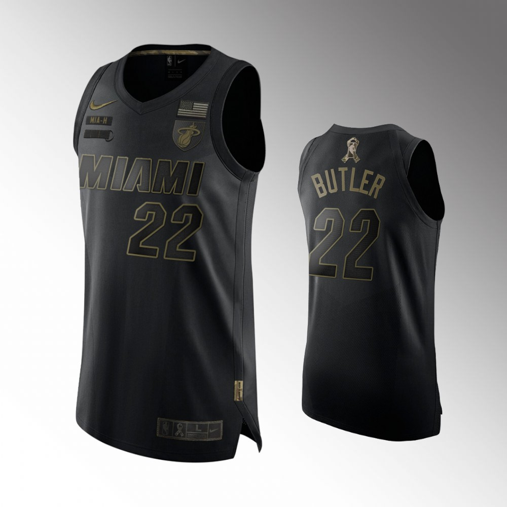 Jimmy Butler Miami Heat Black 2020 Salute To Service Jersey