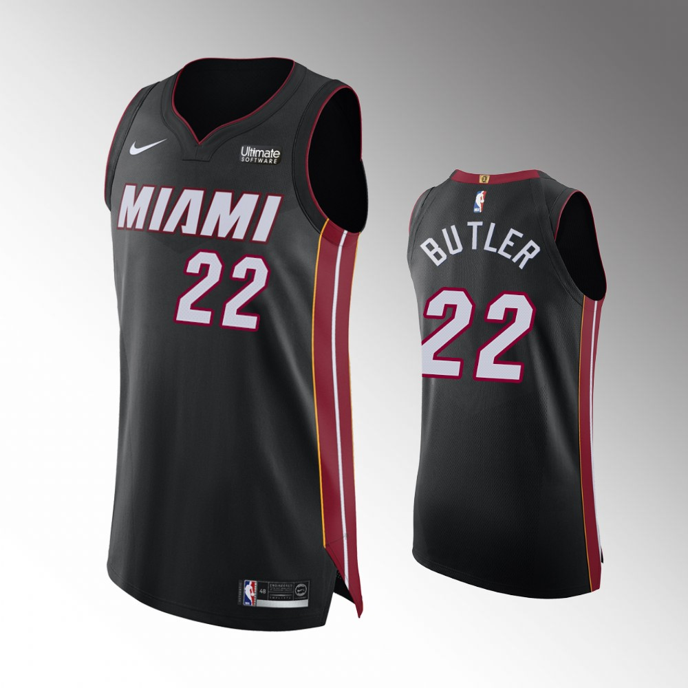 Jimmy Butler Miami Heat Black Icon Authentic Jersey