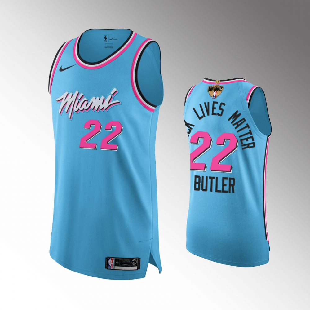 Jimmy Butler Miami Heat Blue 2020 NBA Finals Authentic Jersey