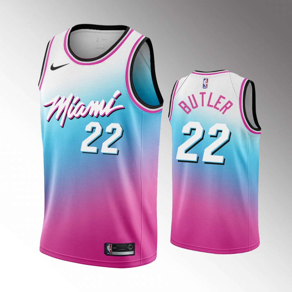 Jimmy Butler Miami Heat Blue Pick City Edition Jersey