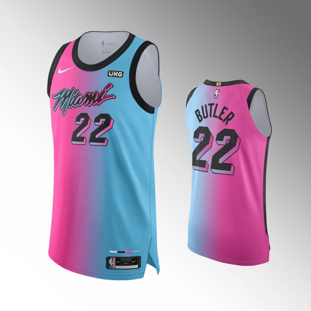 Jimmy Butler Miami Heat Blue Pink Viceversa Authentic Jersey