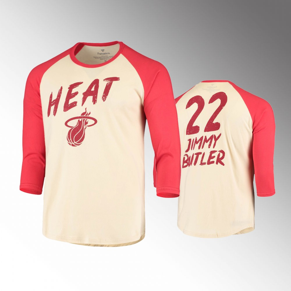Jimmy Butler Miami Heat Super Buckets Cream Red Tee