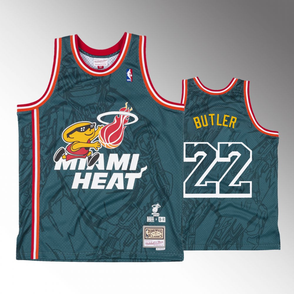 Jimmy Butler Miami Heat Green Denzel Curry x BR Remix Jersey