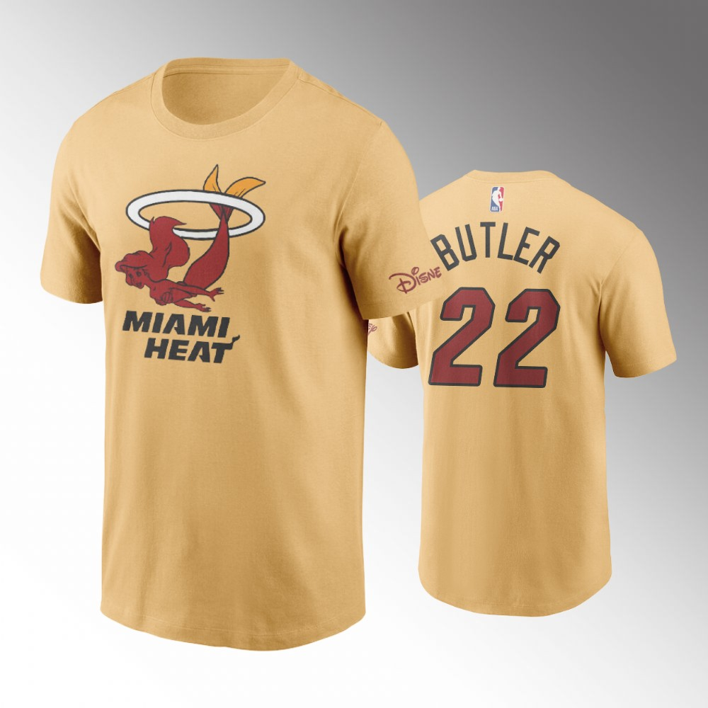 Jimmy Butler Miami Heat 2020 NBA X Disney Mascot Yellow T-Shirt