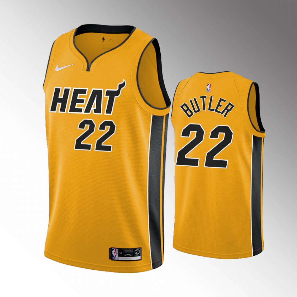 Jimmy Butler Miami Heat Yellow Earned Edition Jersey